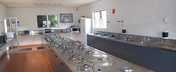 Communal Kitchen for camp ground and cabin guests