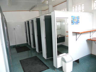 Communal bathrooms for  for camp ground and cabin guests